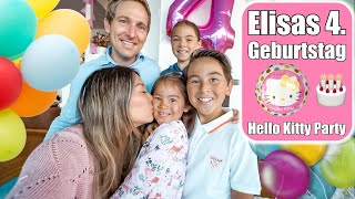 Elisas 4. Geburtstag 🎂 Hello Kitty Party! Torte backen | Kindergeburtstag VLOG | Mamiseelen