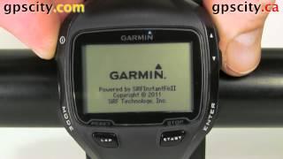 initial Setup on the Garmin Forerunner 910XT