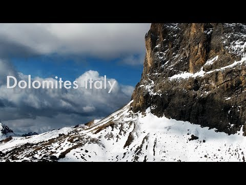 The Dolomites by Drone. South Tyrol, Italy