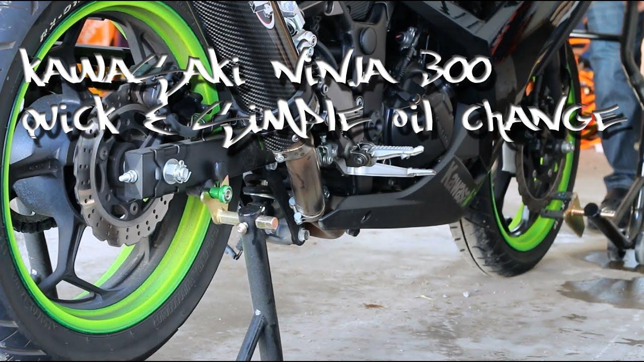 Kawasaki Ninja 300 Quick Simple Oil Change 2014 Youtube