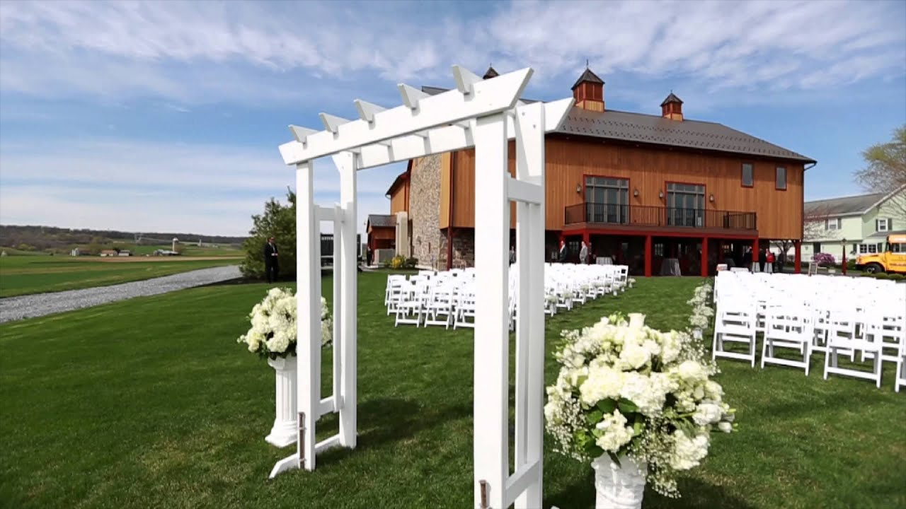 Harvest View Barn at Hershey Farms Wedding - Elizabethtown PA - YouTube