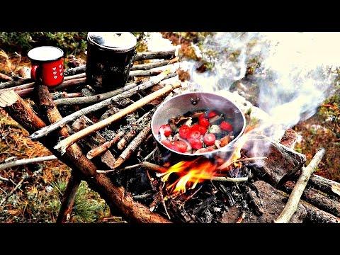 Fuoco rialzato Outdoor Bushcraft Survival raised fire - PeschoAnvi