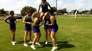 Amazing Cheer Stunt Cow Tippin\' Aug 2010 RLHS CHEER