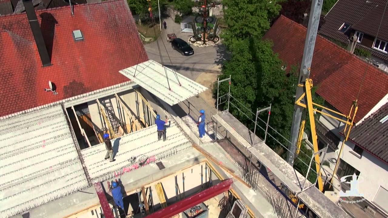 How To Screed A Floor >> Filigrandecken Montage - YouTube