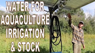 Aquaculture and Water Storage For Flood Irrigation and Stock Needs: Regenerative Agriculture