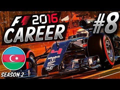 F1 2016 CAREER MODE S2 PART 8: INSANE RACE RESULTS!!! (BAKU) | aarava