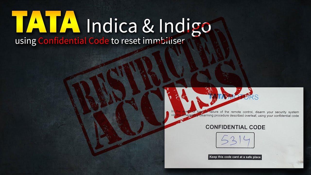 Tata Indica & Indigo Immobiliser Reset