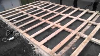 видео перекрыть крышу гаража