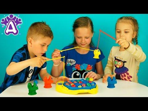 Рыбалка для детей Распаковка Детские игры Lets Go Fishin game for children Розыгрыш