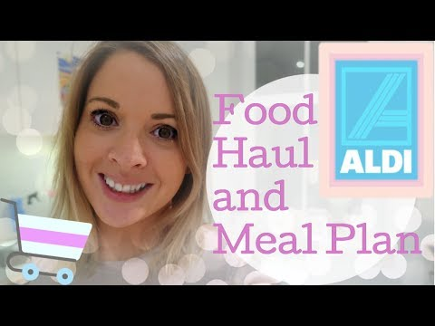 Aldi Meal plan & 7 day grocery haul | Food shop under £60