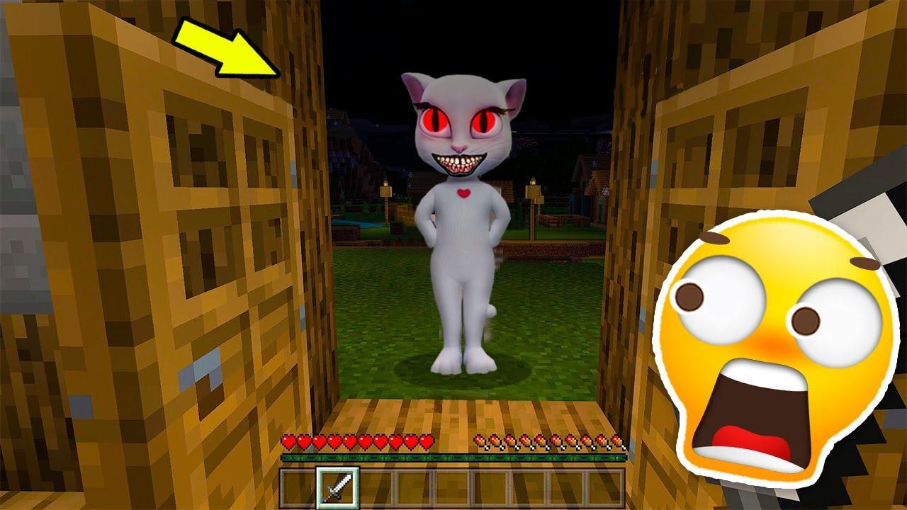 Apariciones Aterradores de Talking Angela en Minecraft