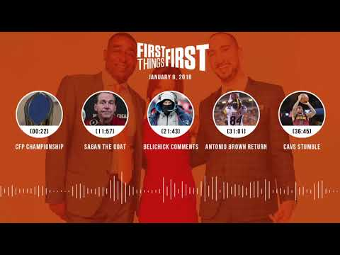 First Things First audio podcast (1.9.18) Cris Carter, Nick Wright, Jenna Wolfe | FIRST THINGS FIRST