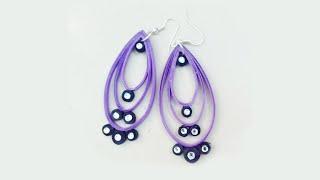 quilling paper earrings Latest design earrings  Earrings Making video