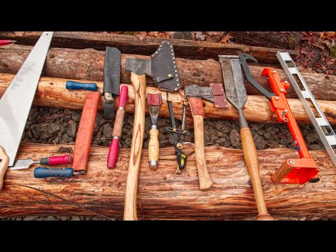 Log Cabin Tools For The Off Grid Sauna Bathhouse, Ep.3