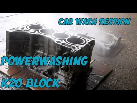 CLEANING ENGINE BLOCK AT THE CAR WASH ? K20 ENGINE BUILD