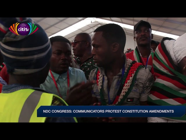 NDC communicators protest constitution amendments