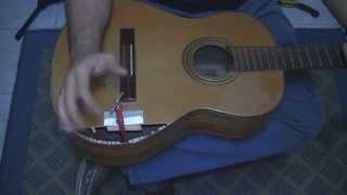 Tutorial - Consertar tampo de violão quebrado - Parte 1 - Luthieria