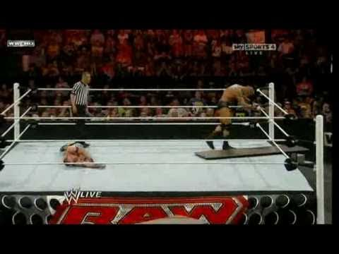 Raw Roulette 09/13/10 - John Cena vs Randy Orton (Tables Match) 1/2 Travel Video