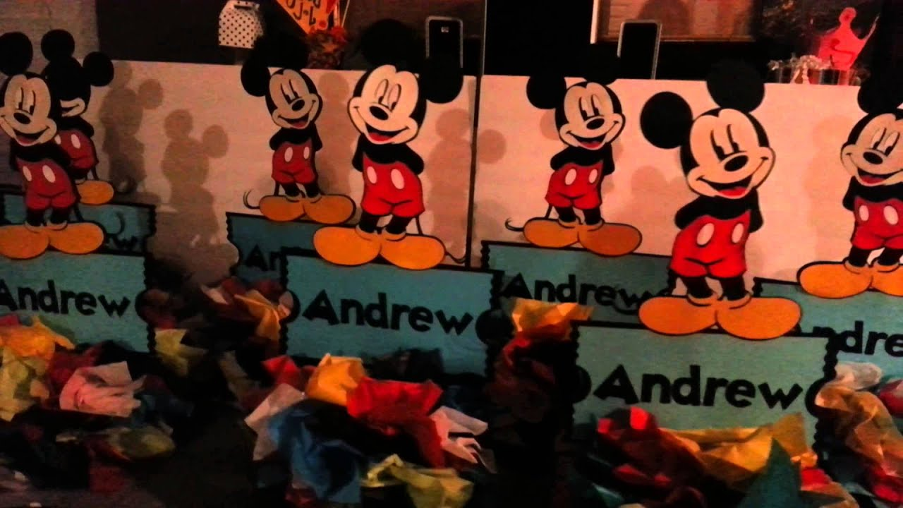 Mickey Mouse Table Centerpiece