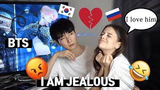 🇰🇷🇷🇺 Making My Boyfriend Jealous PRANK | Korean Russian Couple *CUTE REACTION*