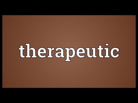 Therapeutic Meaning