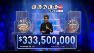 November 19, 2016, 333.5 Million Jackpot United States Powerball results and winning numbers