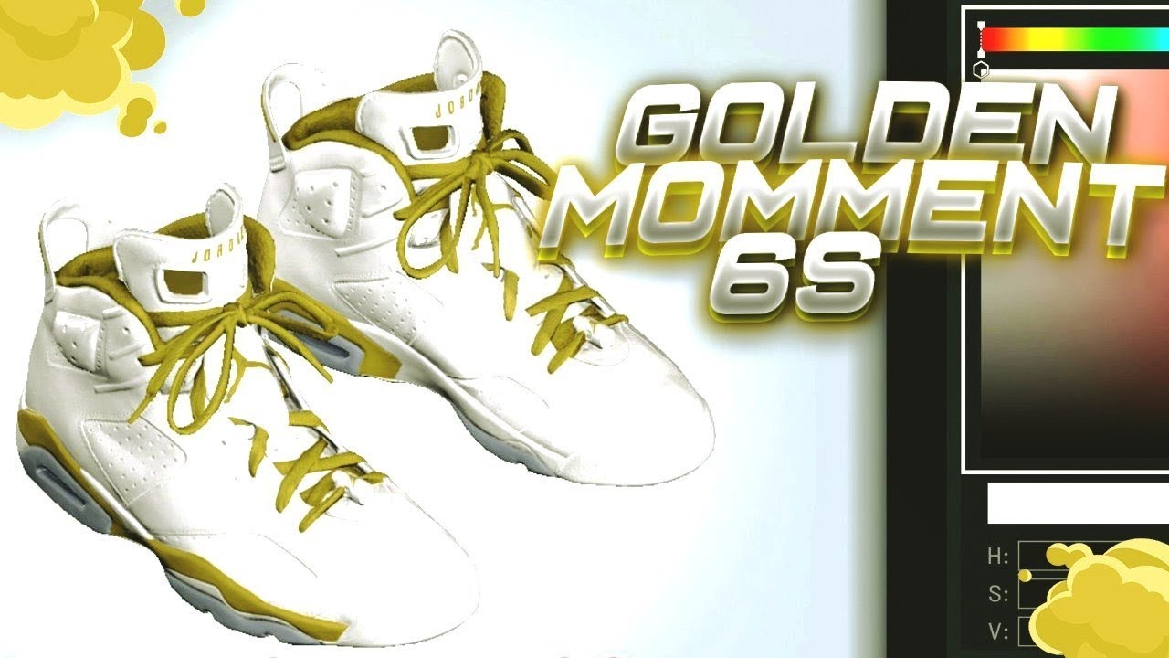 new arrival 74759 b9e8c NBA 2K19 SHOE CREATOR TUTORIAL HOW TO MAKE AIR JORDAN 6 GOLDEN MOMENTS
