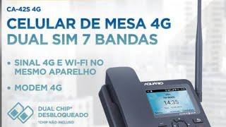 celular rural/telefone mesa 3G/4G com roteador WiFi/Bluetooth/mp3 e Android 7