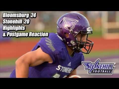 Stonehill Football Highlights & Postgame vs. Bloomsburg