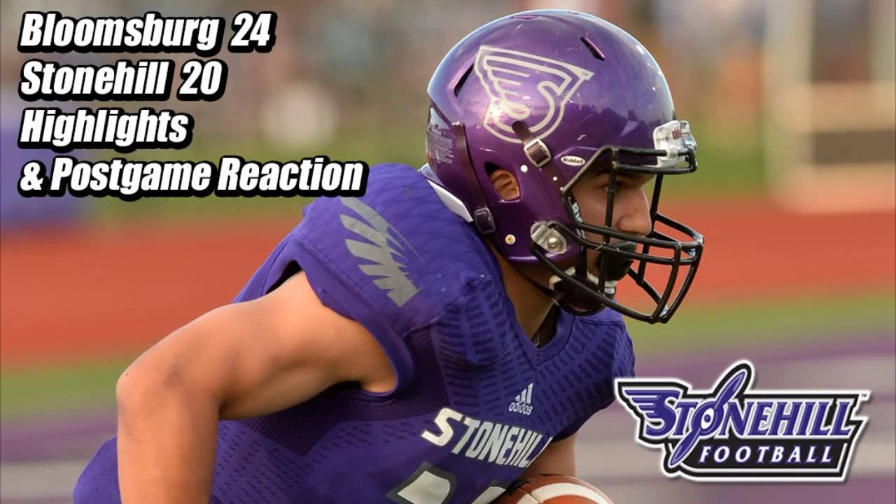Stonehill Football Highlights Postgame Vs Bloomsburg Youtube