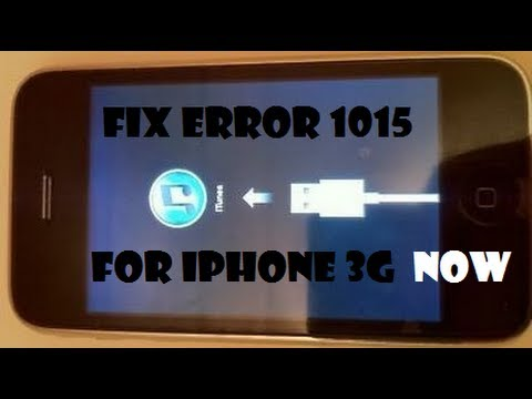 How to: Fix ERROR 1015 iPhone 3G STUCK ITUNES-STEP BY STEP!