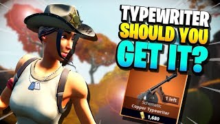 SHOULD YOU GET IT? Legendary Typewriter Lvl 130 | Fortnite Save the World PvE