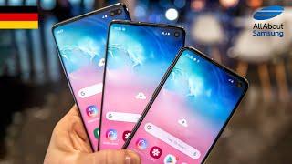 Samsung Galaxy S10, S10e und S10+ Hands-On und erster Eindruck deutsch 4k
