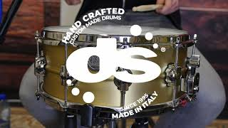 Brass 14x6 Snare Drum by DS Drum (Sound examples)