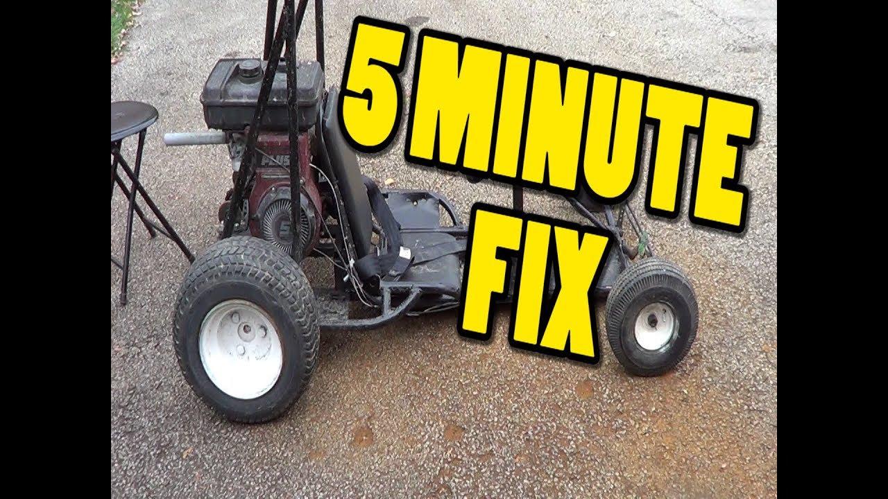 5 MINUTE FIX! Go kart carburetor service
