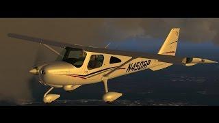 【阿誠直播】Prepar3D Flight1 Cessna 162 SkyCatcher TEST Flight 新飛機開箱飛行~~
