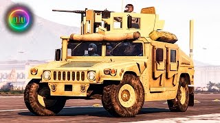 GTA 5: LSPDFR Military Patrol - Humvee w/ .50 Cal M2 Browning!