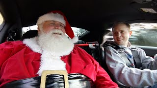 Santa Claus REACTION in 900hp GT500 to the North Pole