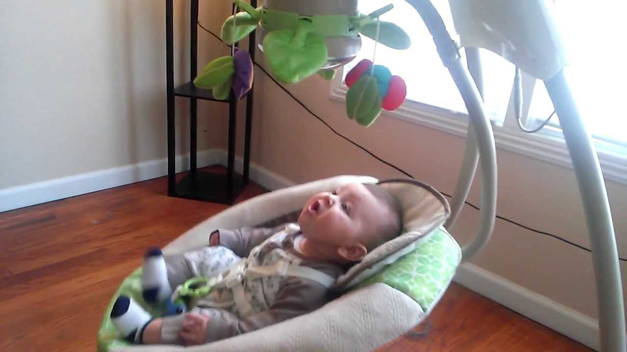 Fisher Price Deluxe Cradle Swing Rainforest Friends Youtube