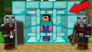 Minecraft NOOB vs PRO: HOW NOOB ESCAPE FROM DIAMOND PRISON THIS PILLAGERS? Challenge 100% trolling
