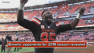 Cleveland Browns' opponents for 2019 season revealed