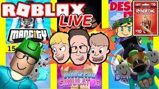 Roblox LIVE | Neues Spiel alle 15 Minuten! | Robux Giveaway mit Schlamaddy | Familienfreundlich