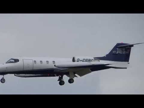 D-CGRC Jet Executive Learjet 35A Landing at Hamburg Airport