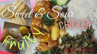 #mixfruits #chicken #sweet&sour How to make sweet & sour chicken using mix fruits