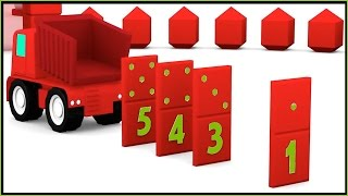 Smart Car Dominos! ⭐︎ Magic Arch Learn Colors & Numbers ⭐︎ For Children. Video Xe Tải Lớn/큰 트럭 农行