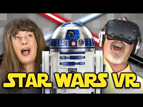 Thumbnail: ELDERS PLAY WITH VR LIGHTSABERS | May the Fourth Be With You! (REACT VR: Gaming)