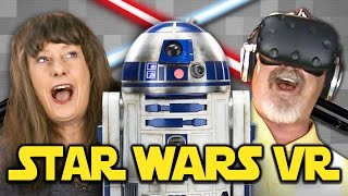 ELDERS PLAY WITH VR LIGHTSABERS | May the Fourth Be With You! (REACT VR: Gaming)