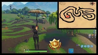 "Fortnite: Salty Springs Treasure Location ""Follow The Treasure Map Found in Salty Springs"" Week 3"