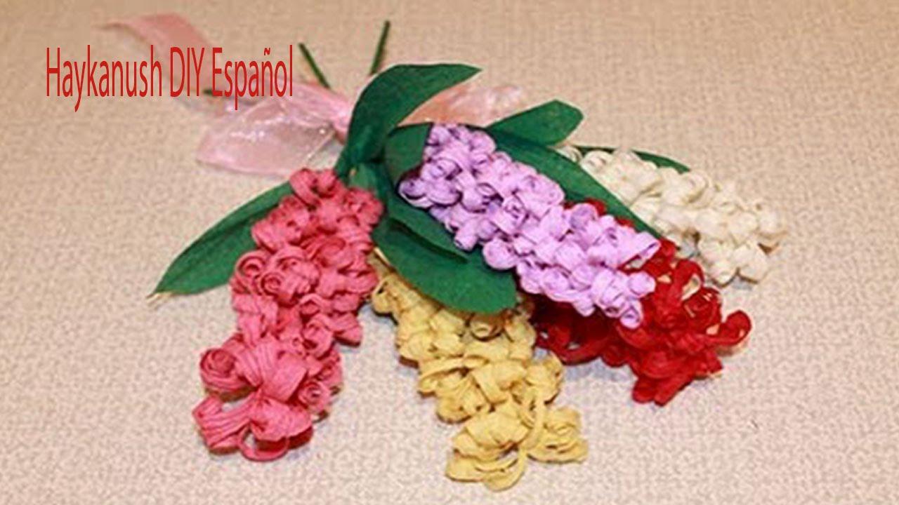 Como hacer flores de papel crepe paso a paso crepe flores - Como hacer flores ...