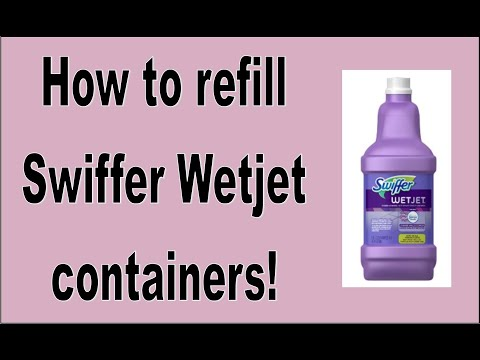 DIY:  How to refill your Swiffer Wet Jet containers!